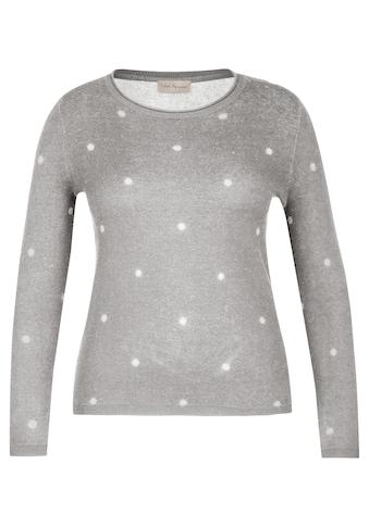 VIA APPIA Süßer Pullover mit Pünktchen-Muster Plus Size kaufen