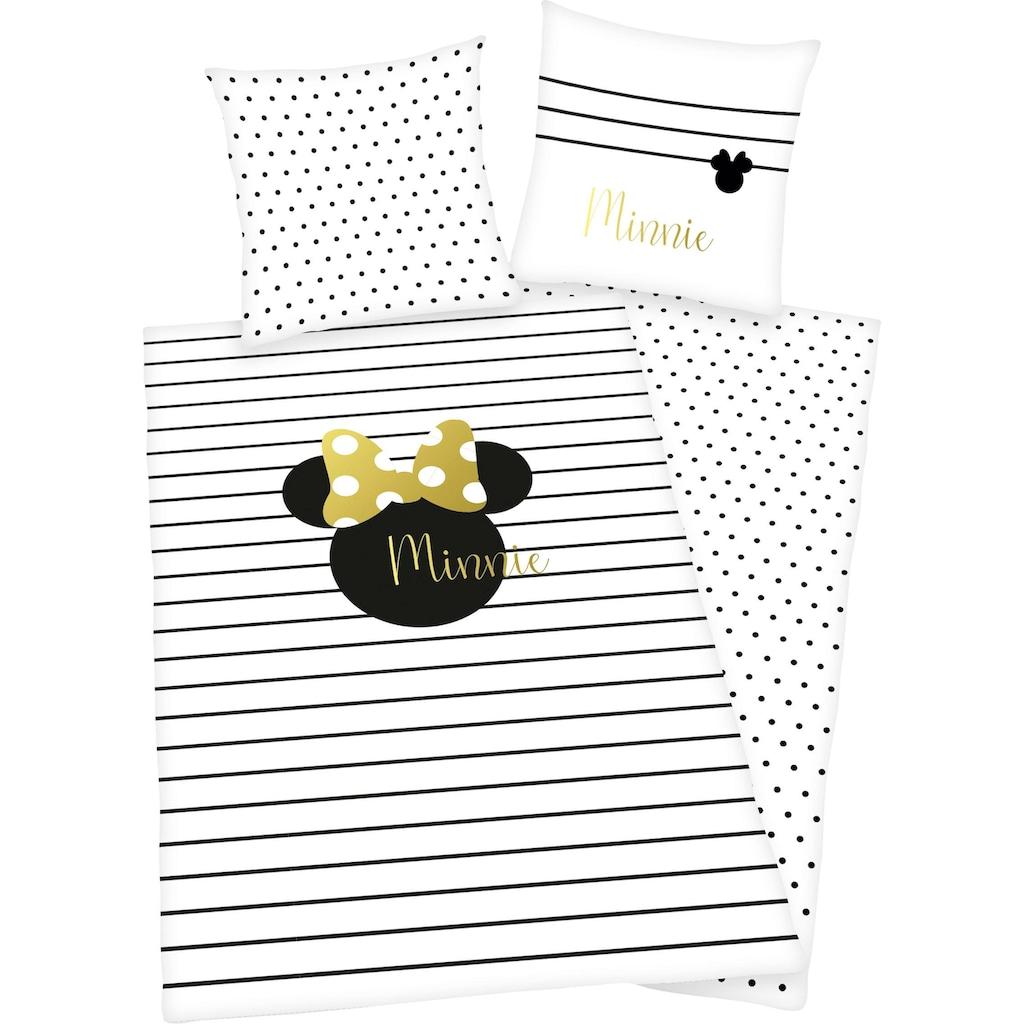 Walt Disney Wendebettwäsche »Minnie Mouse«, mit hochwertigem Golddruck