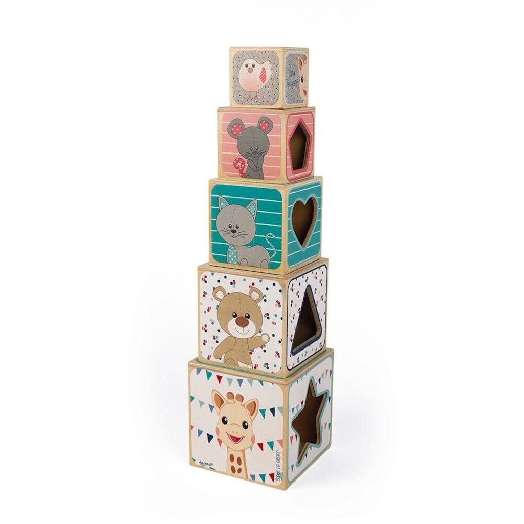 Janod Stapelspielzeug »Sophie la Girafe Stapelpyramide«