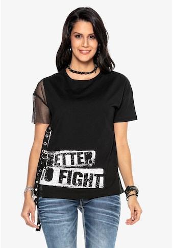 Cipo & Baxx T-Shirt, mit coolen Details kaufen