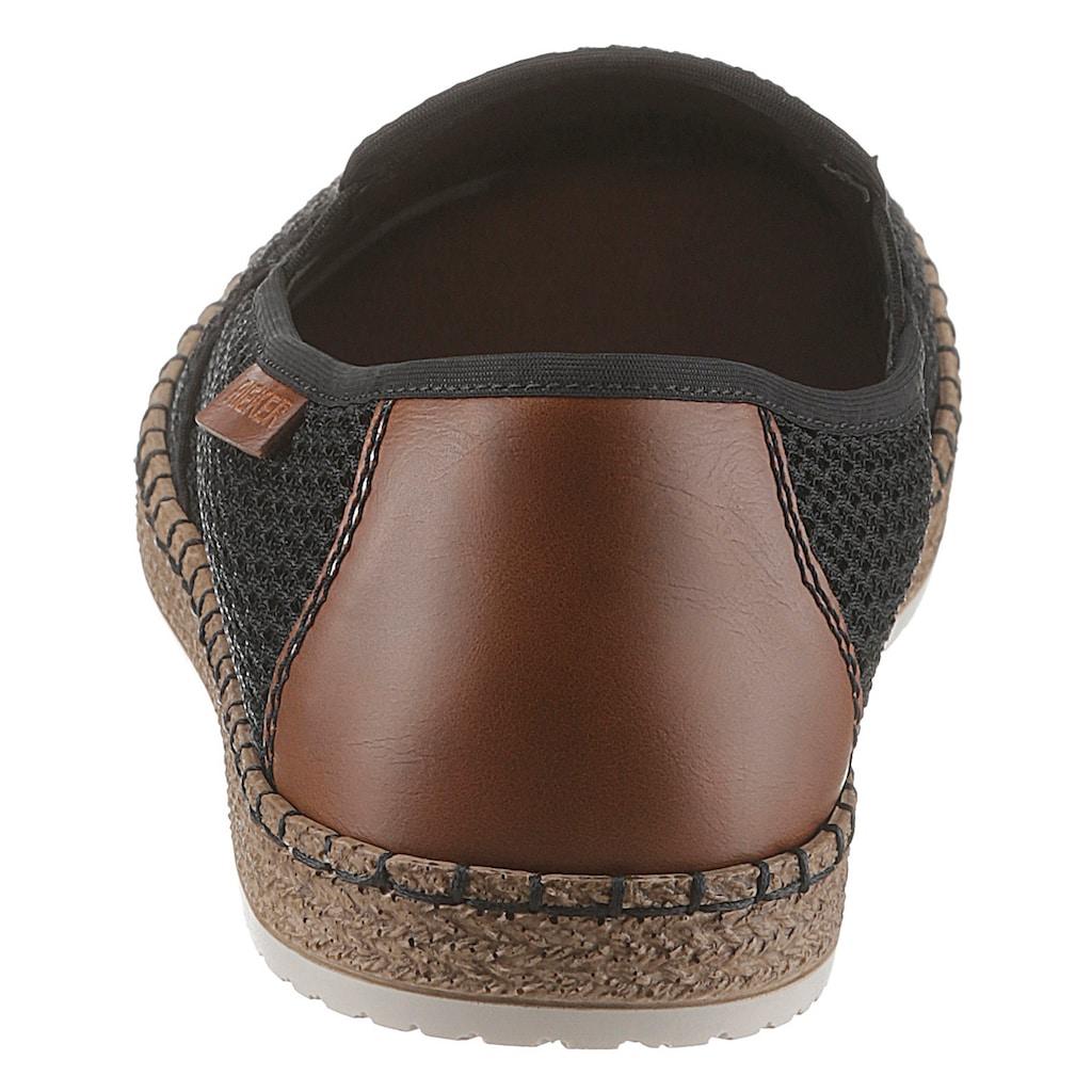 Rieker Espadrille, mit luftdurchlässiger Perforation