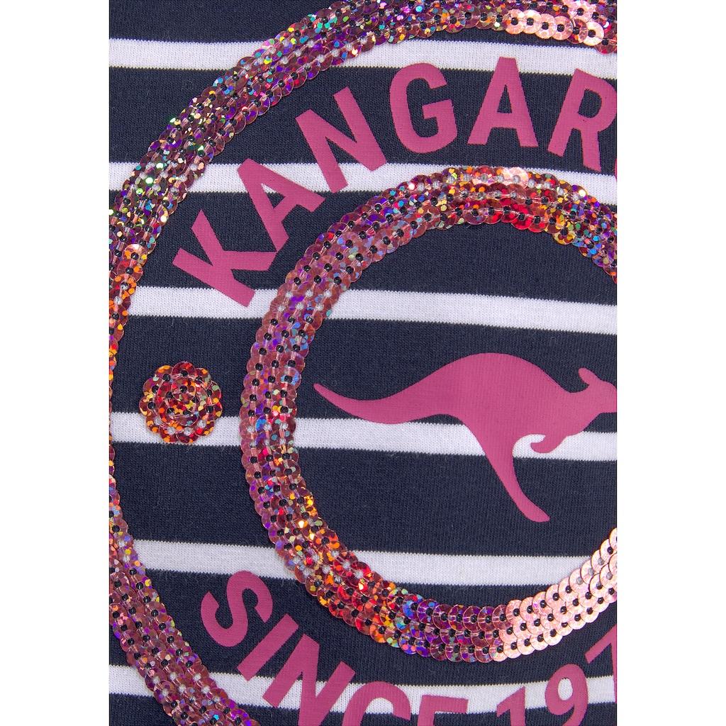 KangaROOS Langarmshirt, mit Paillettenapplikation