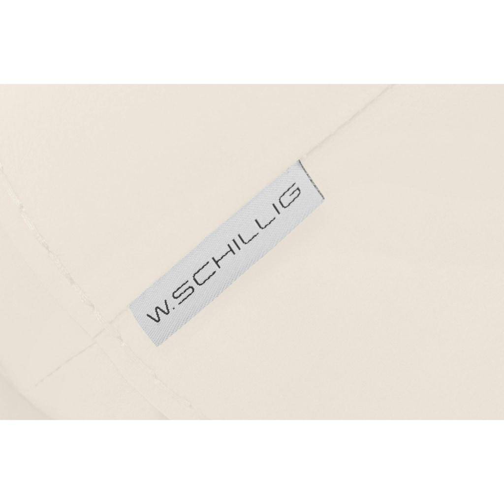 W.SCHILLIG Hocker »montanaa«, mit Metallkufen in Schwarz pulverbeschichtet, Breite 71 cm