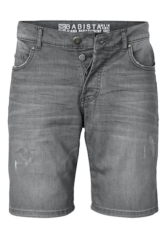 Babista Jeansbermuda mit modischen Crinkle -  und Destroyed - Effekten kaufen