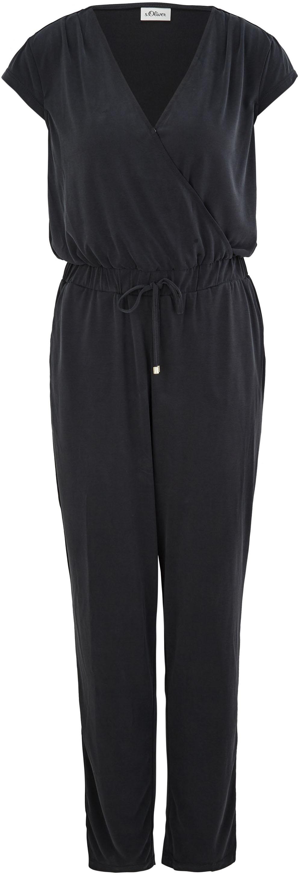 s.oliver black label -  Jumpsuit, mit Cache-Coeur-Ausschnitt