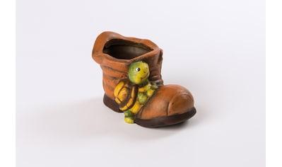 HGD Holz - Glas - Design 2er - Set Blumentopf Keramik - Schuh mit Schildkröte kaufen