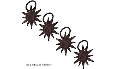 Liedeco Gardinenring »Sonne«, (Packung, 4 St., mit Dekoklammer), für Gardinenstangen Ø... kaufen