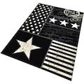 Teppich, »Patchwork Stars«, HANSE Home, rechteckig, Höhe 9 mm, maschinell gewebt