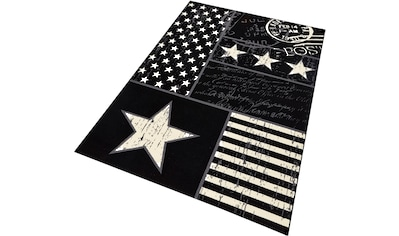 HANSE Home Teppich »Patchwork Stars«, rechteckig, 9 mm Höhe, Patchwork Sterne Design kaufen