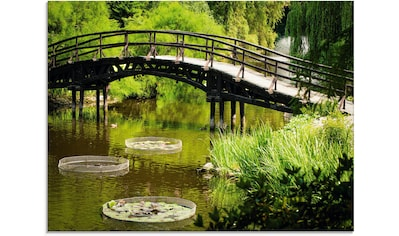 Artland Glasbild »Gartenbrücke«, Garten, (1 St.) kaufen