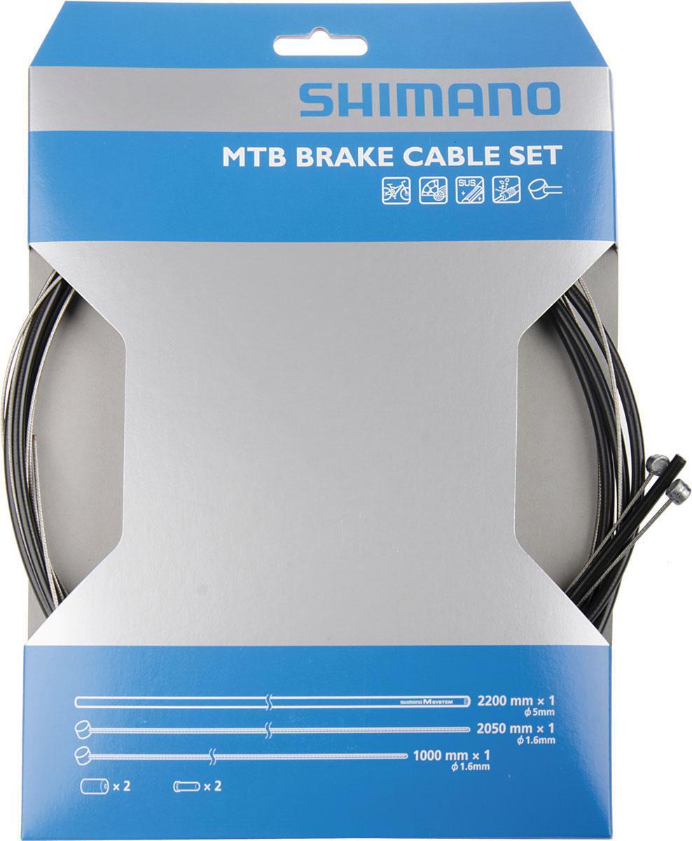 Shimano Bremszug Set schwarz Fahrradteile Fahrradzubehör Fahrräder Zubehör Bowdenzüge