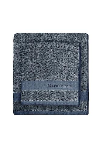Marc O'Polo Home Duschtuch »Melange«, (1 St.), mit hübscher Logostickerei kaufen
