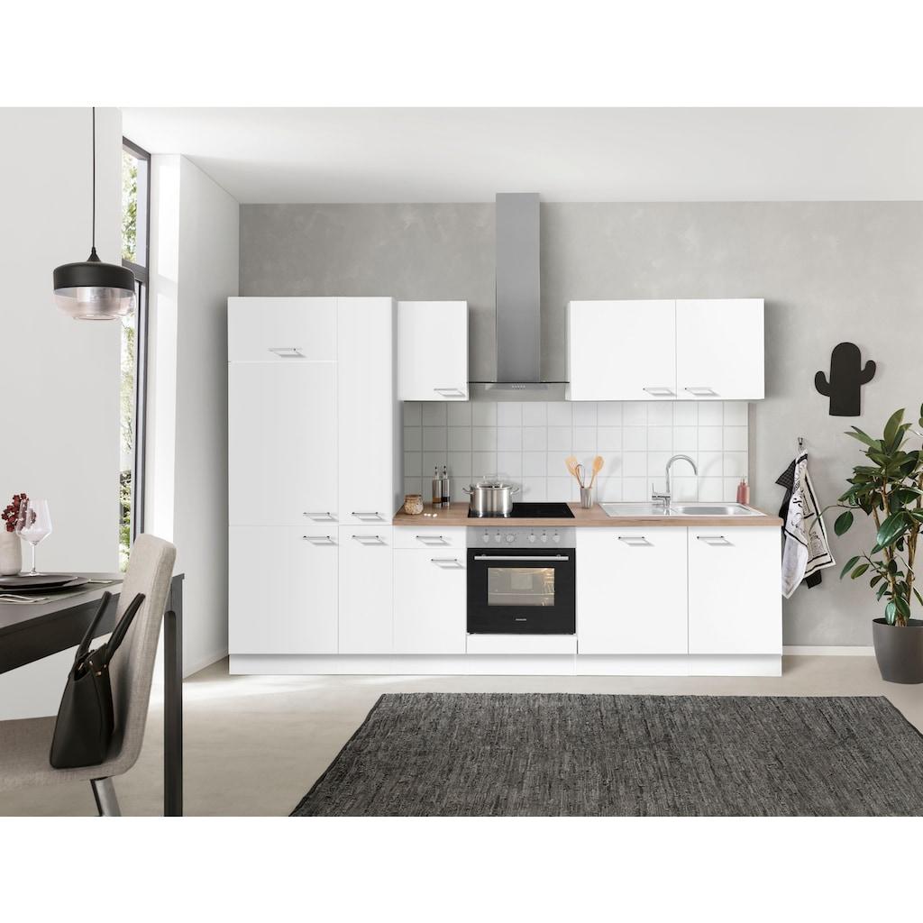 OPTIFIT Küchenzeile »Iver«, 300 cm breit, inklusive Elektrogeräte der Marke HANSEATIC