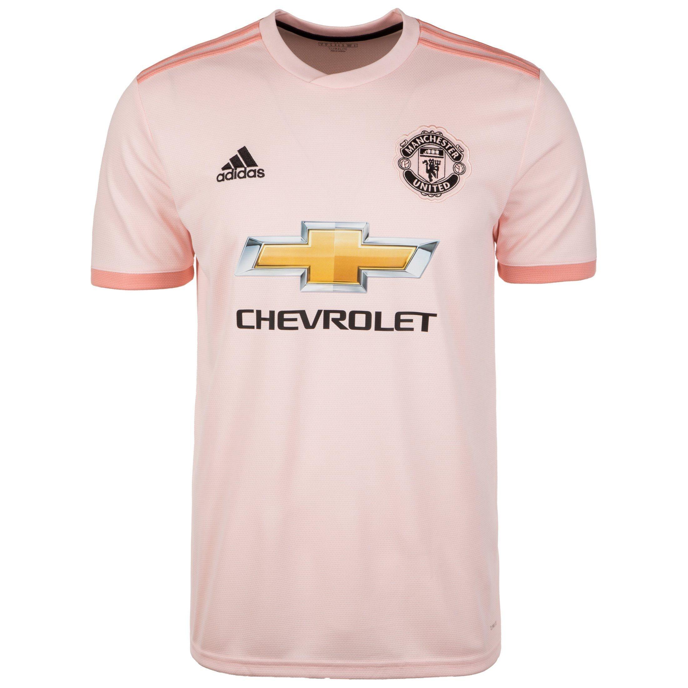 adidas Performance Fußballtrikot Manchester United 18/19 Auswärts | Sportbekleidung > Trikots | Rosa | Trikot - Ab | Adidas Performance