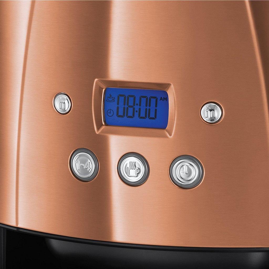RUSSELL HOBBS Filterkaffeemaschine Luna Copper Accents 24320-56, Papierfilter 1x4