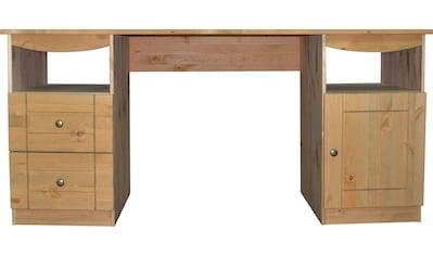Places of Style Schreibtisch »Telde«, aus Kiefer massiv, Breite 140 cm kaufen