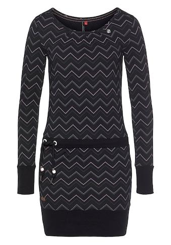 Ragwear Jerseykleid »ALEXA ZIG ZAG«, mit Allover-Druck kaufen