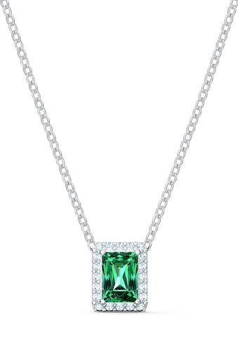 Swarovski Kette mit Anhänger »Angelic Rectangular Halskette, grün, rhodiniert, 5559380« kaufen