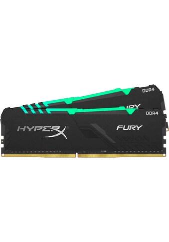 HyperX »HyperX Fury RGB DDR4 3200MHz 16GB (2x 8GB) Black« PC - Arbeitsspeicher kaufen