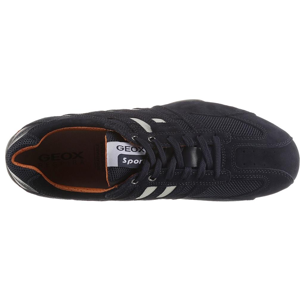 Geox Sneaker »Snake«, im Materialmix mit Geox Spezial Membrane