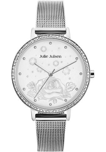 Julie Julsen Quarzuhr »Winterrose Silver Mesh, JJW51SME« kaufen