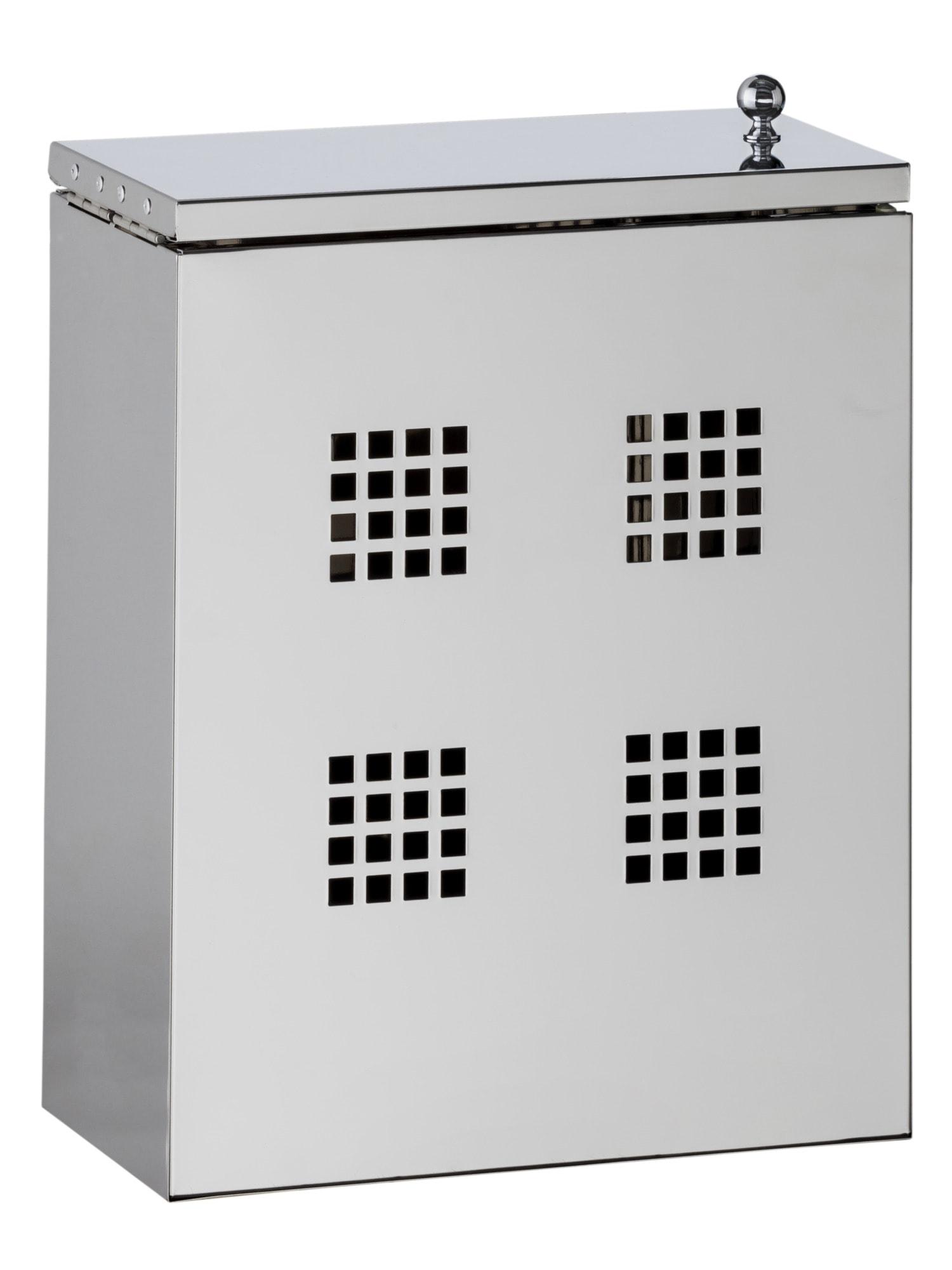 Heine Home Putzmittelbehälter aus Edelstahl grau Küchen-Ordnungshelfer Küchenhelfer Küche Haushaltshelfer