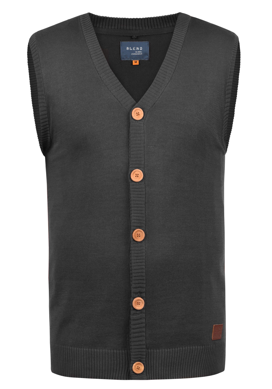 Blend Pullunder Lennardo   Bekleidung > Pullover > Pullunder   Grau   Leder   Blend