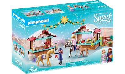 """Playmobil® Konstruktions - Spielset """"Weihnachten in Miradero (70395), Spirit Riding Free"""", Kunststoff kaufen"""