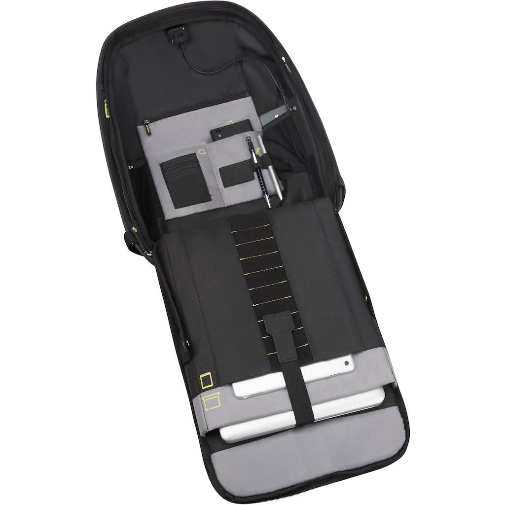 Samsonite Laptoprucksack »Securipak, black steel«, Reflektoren