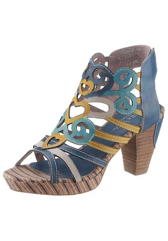 LAURA VITA Sandalette »Ficneo«, mit aufwendiger Blattverzierung kaufen
