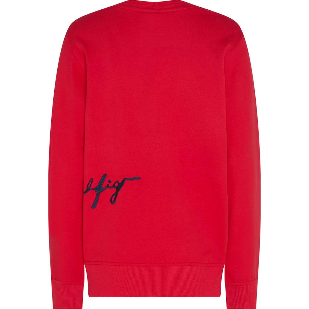TOMMY HILFIGER Sweatshirt »REGULAR C-NK SCRIPT SWEATSHIRT«, mit Tommy Hilfiger Logo-Schriftzug