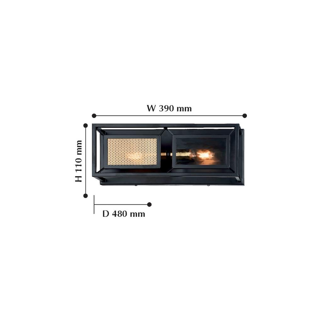 FAVOURITE Wandleuchte »Dual«, mit Metallgitter und Fenster