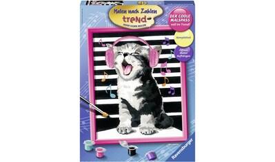 Ravensburger Malen nach Zahlen »Singing Cat«, Made in Europe, FSC® - schützt Wald -... kaufen