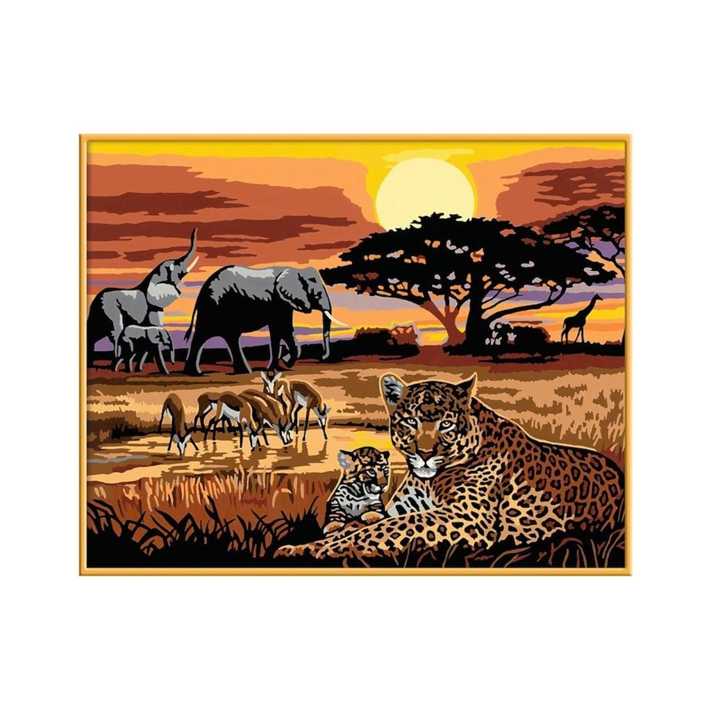 Ravensburger Malen nach Zahlen »Afrikanische Impression«, Made in Europe, FSC® - schützt Wald - weltweit