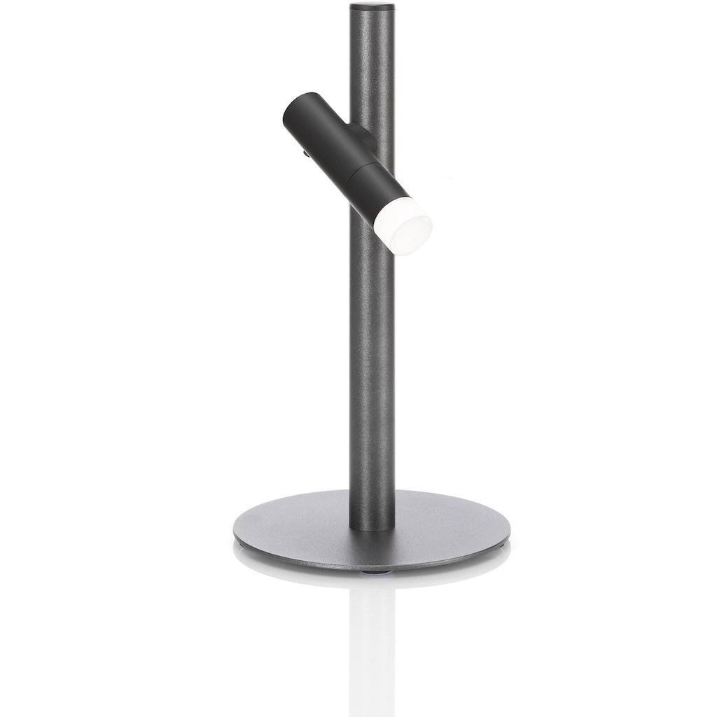 EVOTEC Gartenleuchte »PAUL«, LED-Board, Warmweiß, Outdoorleuchte ideal zum Grillen, LED Taschenlampe, USB-Ladekabel, Multiring mit Flaschenhalter und 3 Haken