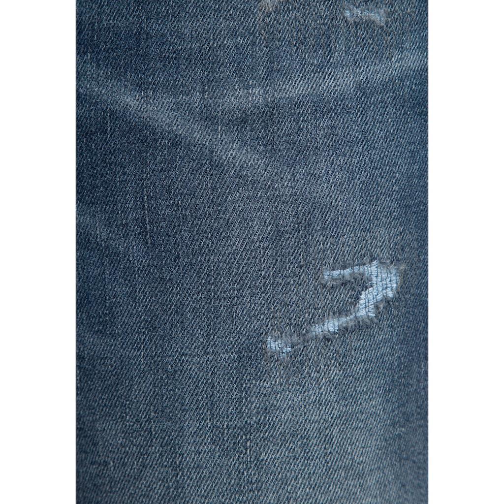 MAC Ankle-Jeans »Rich-Slim«, Aufwendige Nieten-Details vorne und an den Gesäßtaschen