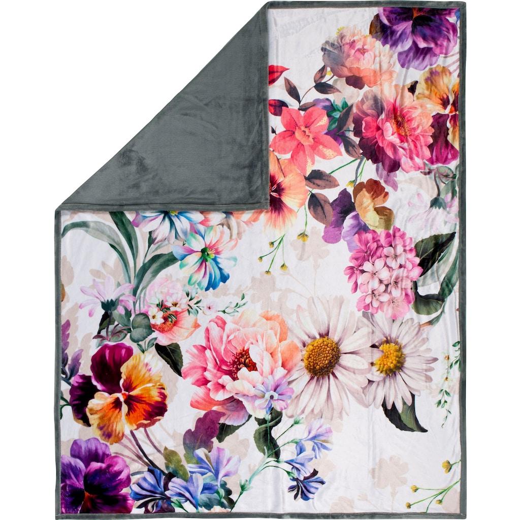 Descanso Plaid »Novara«, mit Blumen