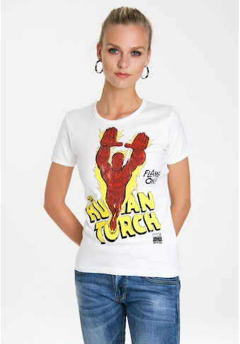 LOGOSHIRT T-Shirt »Human Torch – Flame On«, mit lizenziertem Originaldesign kaufen