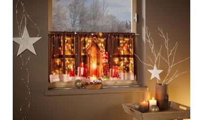 Scheibengardine, »Lichterhaus«, my home, Stangendurchzug 1 Stück kaufen