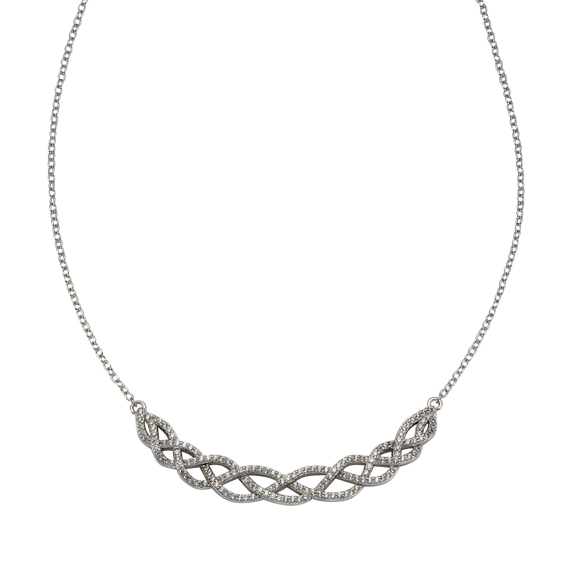 CELESTA Collier 925/- Sterling Silber Zirkonia | Schmuck > Halsketten | Celesta