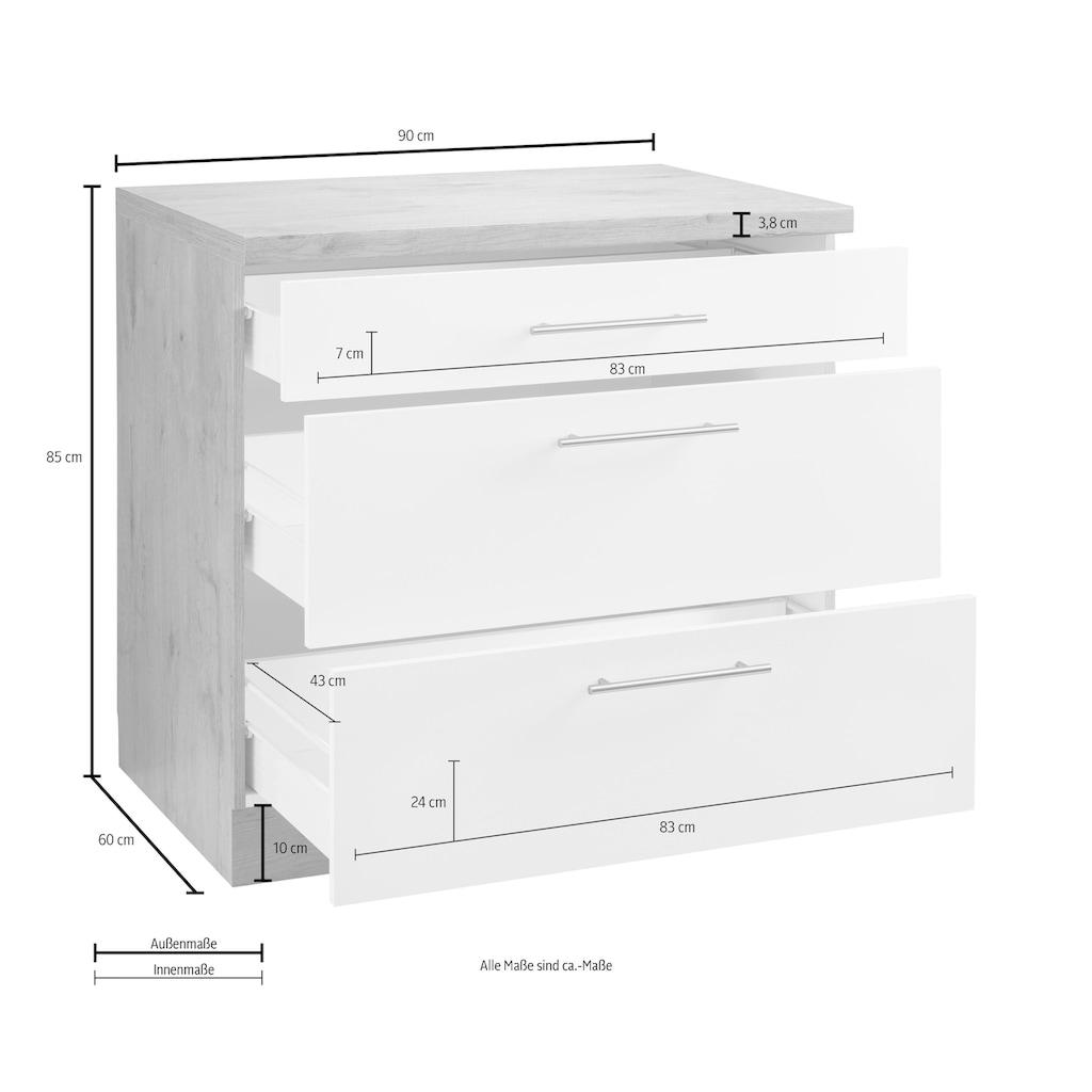 wiho Küchen Unterschrank »Aachen«, Breite 90 cm