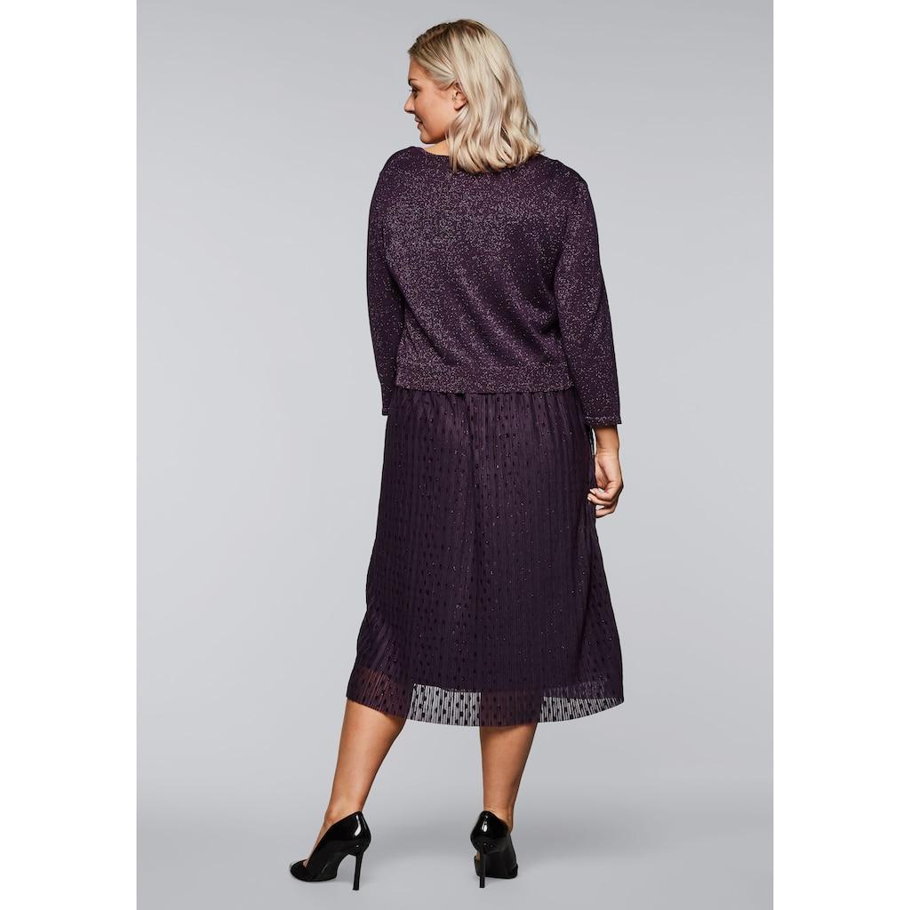Sheego Abendkleid, mit Pullover in 2-in-1-Optik