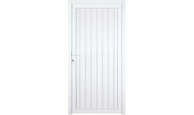 KM MEETH ZAUN GMBH Nebeneingangstür »K608P«, BxH: 98x198 cm, weiß, links kaufen
