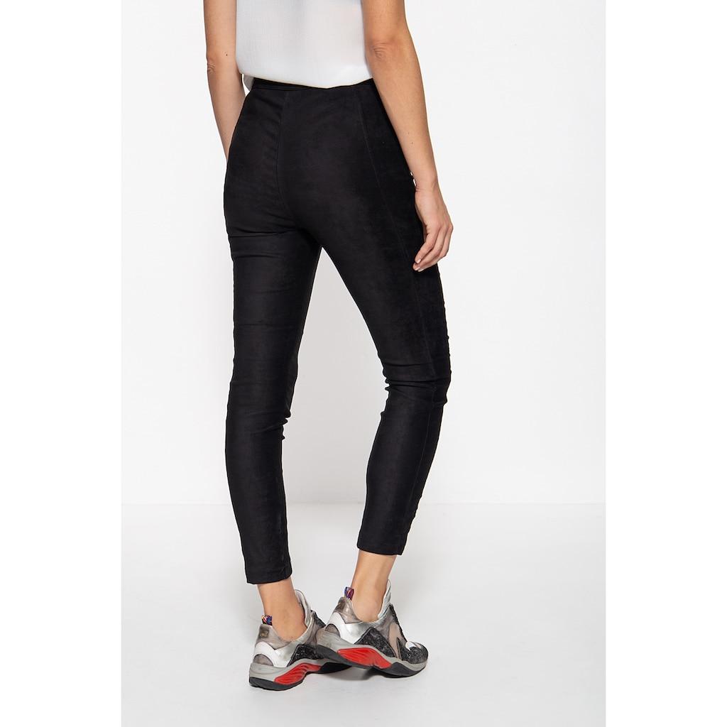 ATT Jeans Stretch-Hose »Mila«, in Wildleder-Optik