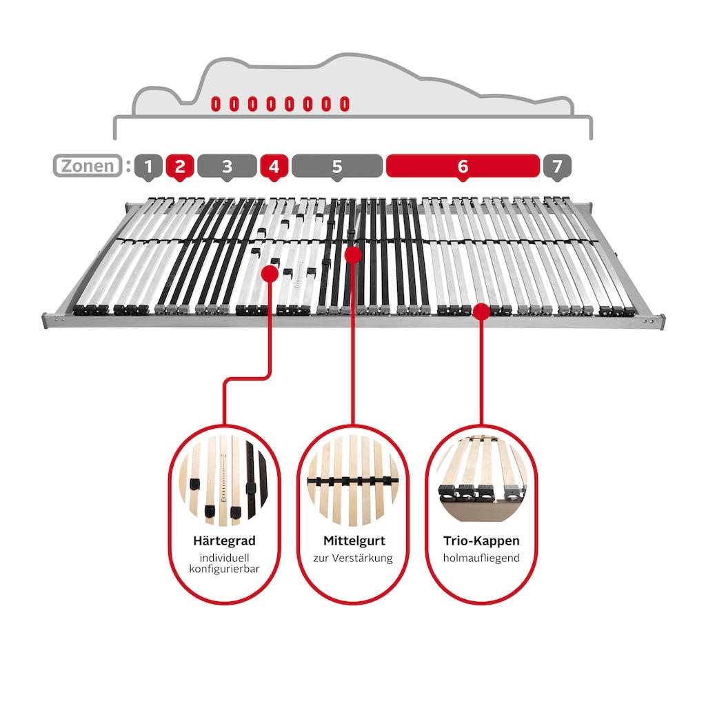 Beco Lattenrost »Heros Fix NV«, 7 Zonen-Luxus, Härteregulierung