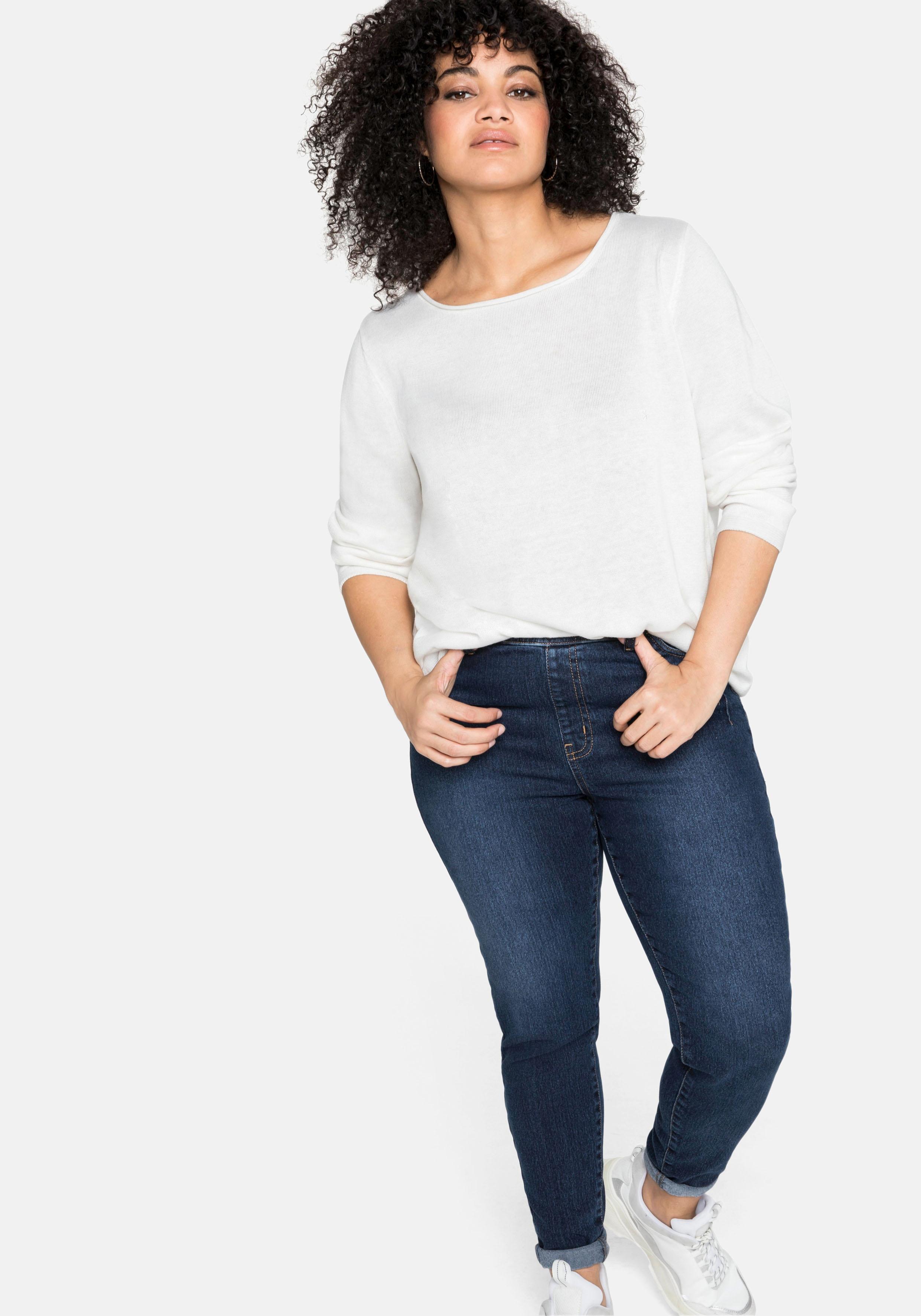 sheego -  Stretch-Jeans, mit Schlupfbund