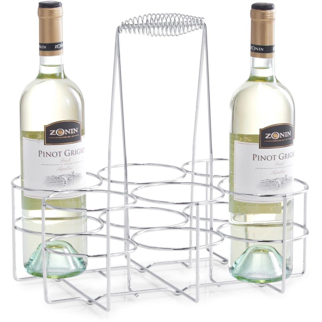Zeller Present Flaschenkorb, (1 tlg.), Flaschenhalter für 6 Flaschen