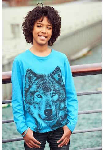 KIDSWORLD Langarmshirt »BLUE WOLF« kaufen