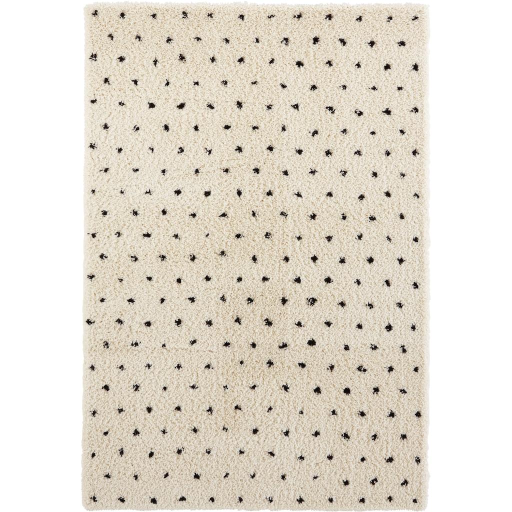 Home affaire Hochflor-Teppich »Caja«, rechteckig, 35 mm Höhe, weicher Flor, Scandi Design, Wohnzimmer