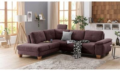Home affaire Ecksofa »Laverna«, wahlweise mit Bettfunktion in 4 Bezugsqualitäten kaufen